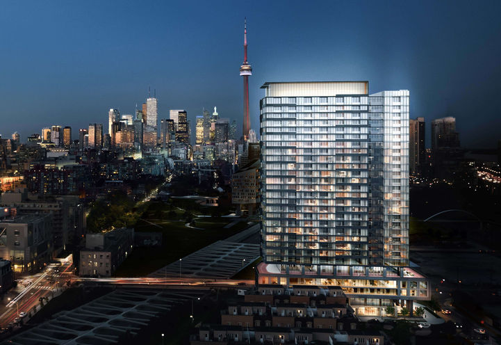 Zen King West Condo Downtown Toronto Night View